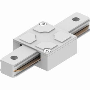 Коннектор прямой однофазный для шинопровода, белый, LD1006