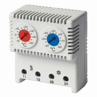 Термостат сдвоенный диапазон темп. для NC контакта: 10-50градС; для NO: 20-80град.C DKC R5THRV13