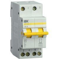 Выключатель-разъединитель трехпозиционный 2п ВРТ-63 25А IEK MPR10-2-025