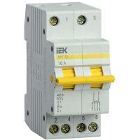 Выключатель-разъединитель трехпозиционный 2п ВРТ-63 16А IEK MPR10-2-016