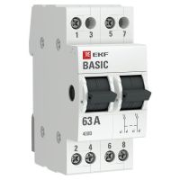Переключатель трехпозиционный 2п 63А Basic EKF tps-2-63