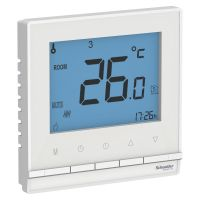 Термостат электронный AtlasDesign 16А для теплого пола с датчиком +5град.C +35град.C в сборе бел. SchE ATN000138