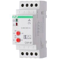 Реле контроля наличия и чередования фаз CKF-BT (монтаж на DIN-рейке 35мм; микропроцессорный; регулировка порога отключения и времени отключения; контроль верхнего и нижнего значений напряжения; 3х400/230+N 2х8А 1Z 1R IP20) F&F EA04.002.004