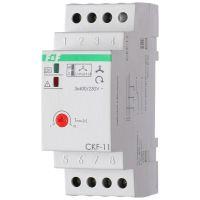 Реле контроля фаз для сетей с изолированной нейтралью CKF-11 (монтаж на DIN-рейке 35мм; регулировка задержки отключения; контроль чередования фаз; 3х400В 8А 1Z 1R IP20)(аналог ЕЛ-11Е) F&F EA04.004.003