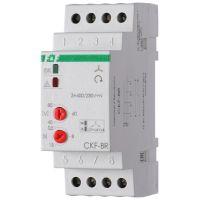 Реле контроля наличия и чередования фаз CKF-BR (монтаж на DIN-рейке 35мм; регулировка порога отключения; регулировка времени отключения; 3х400/230+N 2х8А 1Z 1R IP20) F&F EA04.002.003