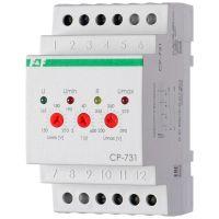 Реле напряжения CP-731 (трехфазный; микропроцессорный; контроль верхнего и нижнего значений напряжения; контроль асимметрии; чередования фаз; монтаж на DIN-рейке 35мм 3х400/230+N 2х8А 1Z 1R IP20) F&F EA04.009.005