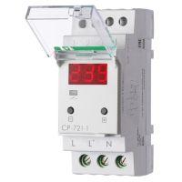 Реле напряжения CP-721-1 (однофазное; цифровая индикация; напряжение питания 50-450В контакт 1NO 63А встроен. таймер регистрация аварий в памяти индикация текущего напряжения) (аналог УЗМ) F&F EA04.009.013