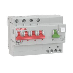 Выключатель автоматический дифференциального тока 4п C 63А 100мА 6кА тип A YON MDV63 DKC MDV63-43C63-A