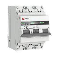 Выключатель автоматический модульный 3п C 32А 6кА ВА 47-63 PROxima EKF mcb4763-6-3-32C-pro