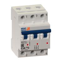Выключатель автоматический модульный 3п C 32А 6кА OptiDin BM63-3C32-УХЛ3 КЭАЗ 260796