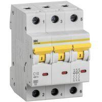 Выключатель автоматический модульный 3п C 10А 6кА ВА47-60M IEK MVA31-3-010-C