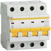 Выключатель автоматический модульный 4п C 63А 4.5кА ВА47-29 IEK MVA20-4-063-C