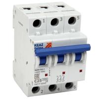 Выключатель автоматический модульный 3п C 25А 6кА OptiDin BM63-3C25-УХЛ3 КЭАЗ 260794