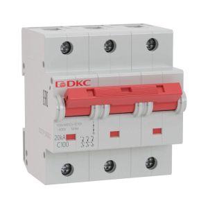 Выключатель автоматический модульный YON MD125-3C80-8ln DKC MD125-3C80