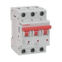 Выключатель автоматический модульный YON MD63-3C6-10 10кА DKC MD63-3C6-10