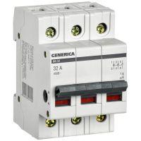 Выключатель нагрузки (мини-рубильник) 3п ВН-32 32А GENERICA IEK MNV15-3-032
